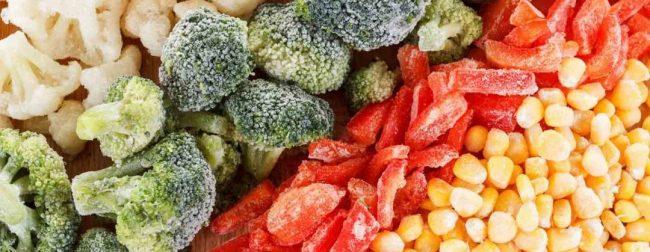 منجمد کردن سبزی